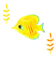 Butterfly fish yellow vector image