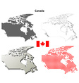 Canada outline map set vector image vector image