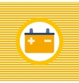 Car battery color flat icon vector image