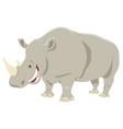 cartoon rhinoceros animal character vector image vector image