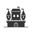 castle tower icon on white background vector image vector image