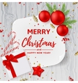 Christmas or New Year decoration background vector image vector image