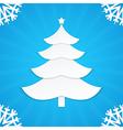 christmas postcard tree 1 vector image vector image