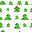 Christmas tree seamless pattern Christmas tree vector image vector image