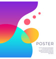 colorful abstract shapes poster design vector image vector image