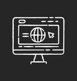 corporate website chalk white icon on black vector image vector image