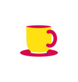 cup icon coffee or tea symbol isolated object vector image