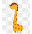 cute giraffe isolated african animal bashower vector image