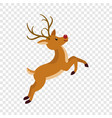 cute xmas deer icon flat style vector image