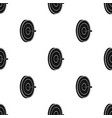 darts icon in black style isolated on white vector image