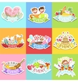 Event Template Labels Set Of Cute Stickers vector image vector image
