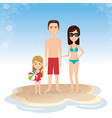 family in the beach summer vacations vector image vector image