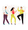 friendly dance party vector image vector image