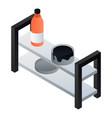 full garage rack icon isometric style vector image vector image