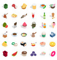 gastronomy icons set isometric style vector image vector image