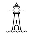 glass lighthouse icon outline style vector image vector image