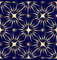 gold stars and sun seamless pattern vector image