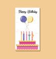 happy birthday card icon vector image vector image