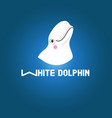 head white dolphin vector image vector image