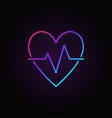 heart beat colored icon - heartbeat pulse vector image