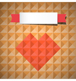 Heart Symbol on Retro Triangle Background vector image vector image