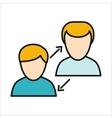 Human Interaction Icon vector image vector image