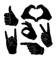 human vintage hand gestures and signs okay vector image