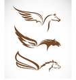 image of an pegasus winged horses vector image