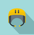 kayak helmet icon flat style vector image vector image