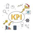 key performance indicator vector image vector image