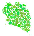 koh phangan thai island map mosaic of dots vector image vector image