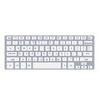 laptop qwerty keyboard with silver key buttons vector image