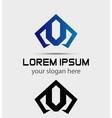 Letter V logo icon design template vector image vector image