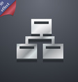 Local Network icon symbol 3D style Trendy modern vector image vector image
