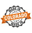 made in colorado round seal vector image vector image