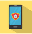 mobile phone under protection vector image
