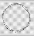 naturalistic 3d view metal barbed wire eps10 vector image