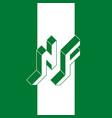 nf - international 2-letter code or national vector image vector image