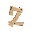 number 2 wood board font two symbol plank and vector image vector image