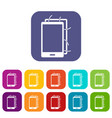 opened phone icons set flat vector image vector image