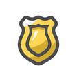 police badge symbol icon cartoon vector image