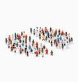 population demographics report pie chart composed vector image