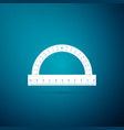 protractor grid for measuring degrees icon vector image vector image