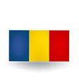 Romanian Flag vector image