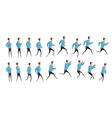 Running And Jumping Man Animation vector image