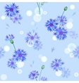 seamless pattern with bluebottles vector image vector image