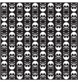 Seamless pattern with skulls and bones black vector image