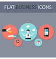 Set of Five Flat Circle Business Icons vector image