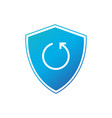 shield security concept with circle refresh arrow vector image vector image