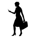silhouette of a business woman vector image